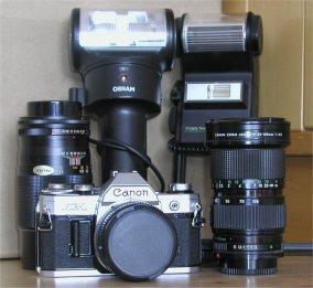 Canon AE1 + tilbehør